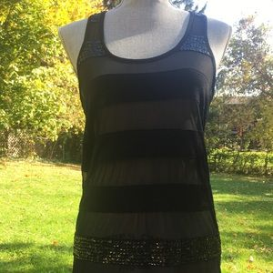 Beautiful Long Black Dress Tank Top